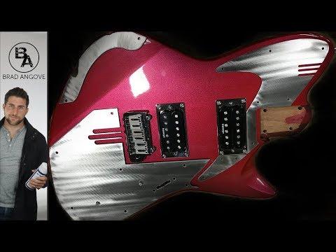 Custom Made Metal Pickguard and Plates (Really Cool Guitar!)