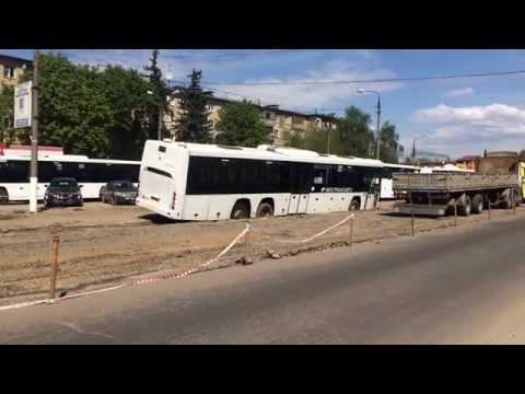 11.05.2015 Автобус провалился на месте дорожных работ