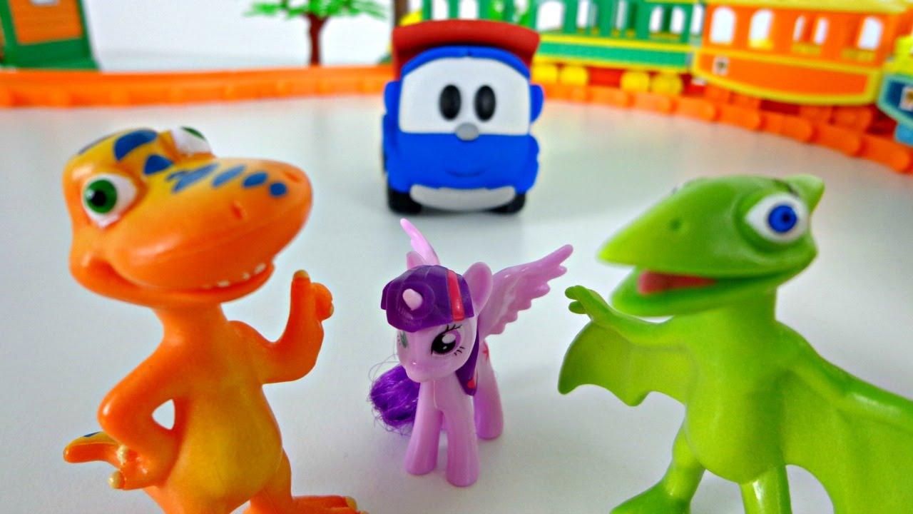 Щенячий патруль игрушки поезд динозавров