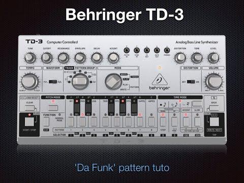 'Da Funk' Pattern - TD-3 Tuto - 100% sound - No talking
