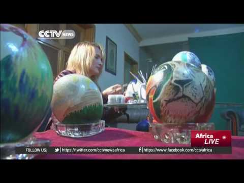 Egyptian artist gives ostrich eggshells a new lease on life