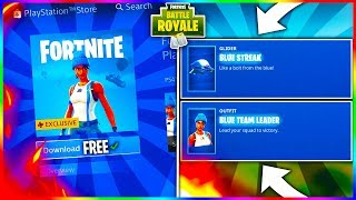"How To Get FREE Fortnite OUTFIT & GLIDER! ""BLUE TEAM LEADER"" & ""BLUE STREAK"" Celebration Pack!"