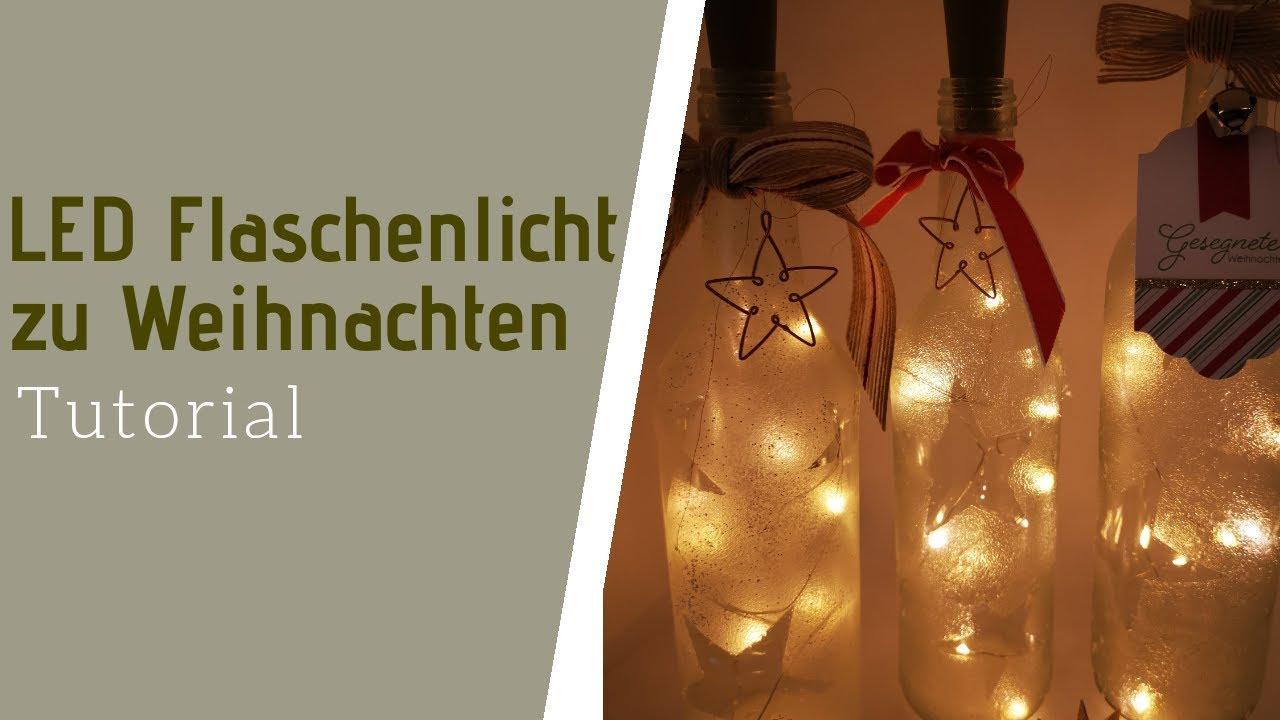 Led Flaschenlicht Zu Weihnachten Weihnachtsdeko Beleuchtete Flasche
