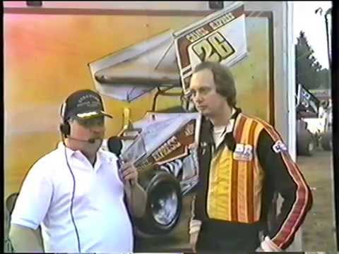 Tom  Landis  Interviews  Jim Nace at Port Royal Speedway ,