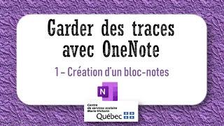 1-Création d'un bloc-notes