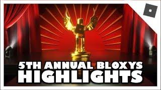 Risultati della quinta edizione dei Roblox Bloxy Awards HIGHLIGHTS! #Roblox #BloxyNews #BloxyNews