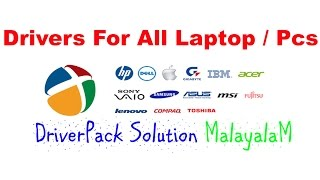 How To Download And Install Drivers For All Laptop / Pcs | DriverPack Solution(MalayalaM)