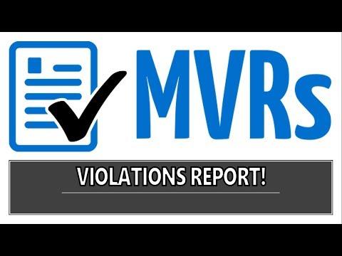 MVR Violations Report