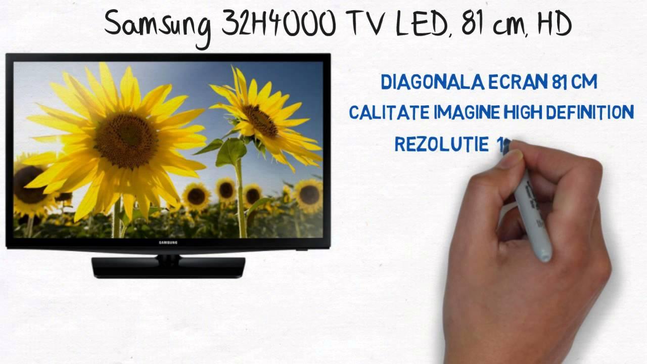 samsung 32h4000 tv led 81 cm hd youtube. Black Bedroom Furniture Sets. Home Design Ideas