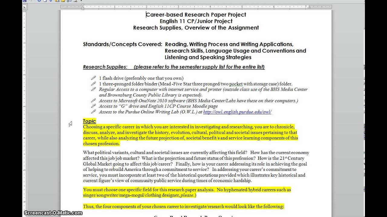 career research paper career research paper overview supplies career research paper overview supplies
