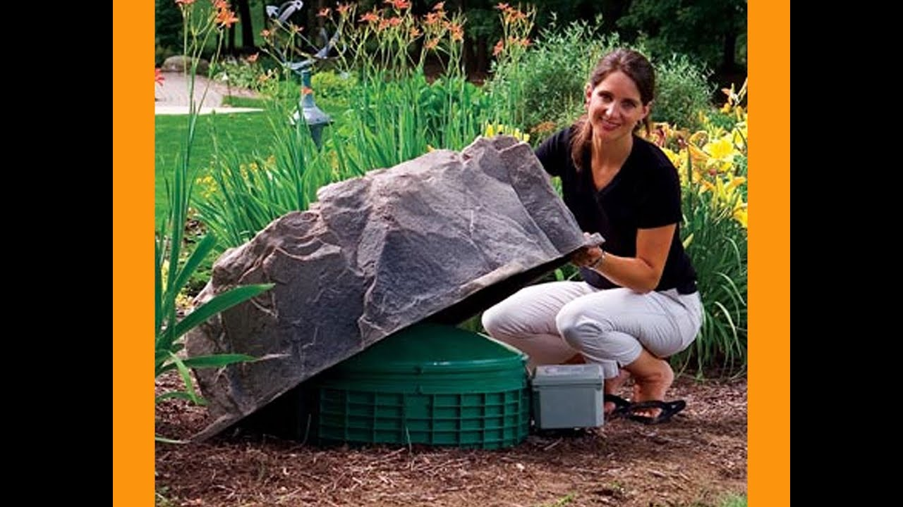 decorative septic tank cover rock dekorra model 111 fake rock cover - Garden Ideas To Hide Septic Tank