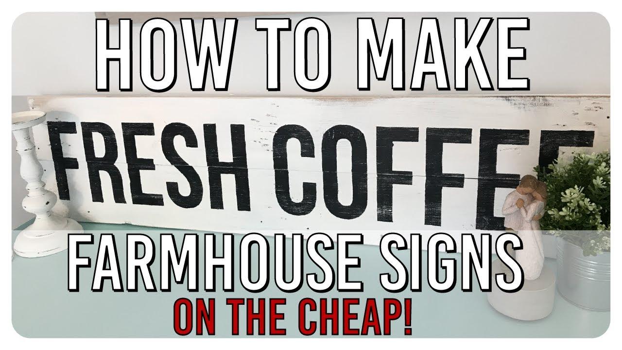 Diy Farmhouse Style Wood Sign Youtube