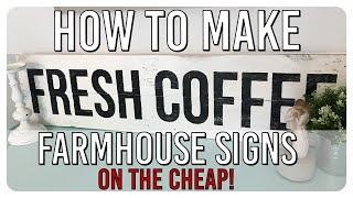 DIY Farmhouse Style Wood Sign