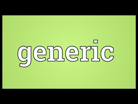 Generic Meaning