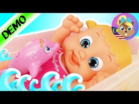 PATUNG Bouncin' Babies - BERENANG DENGAN DOLPHIN - Bonny masuk dalam air   Simba Summer Set