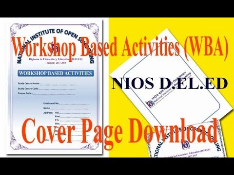 NIOS DELED 512 WORKSHOP BASED ACTIVITIES WBA COVER PAGE Back Page
