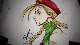 Drawing Cammy (Street Fighter): with Long Vo