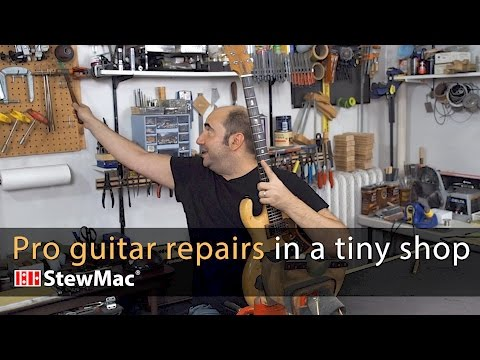 Evan Gluck: pro guitar repairs in a very small shop
