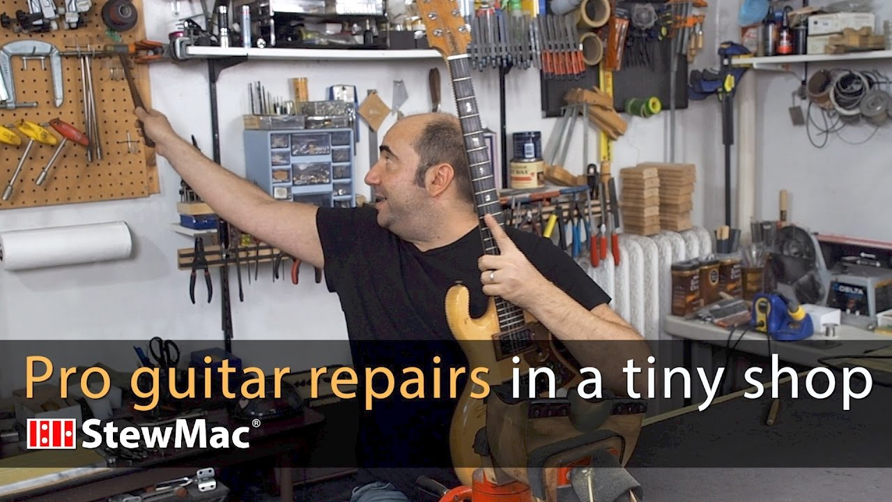 Evan Gluck Pro Guitar Repairs In A Very Small Shop
