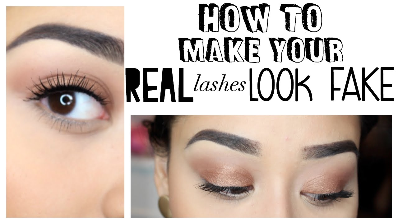 How to : Make your REAL lashes look FAKE - YouTube