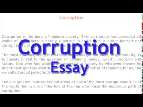 Essay On Corruption  English Essay For Class  And   Youtube Essay On Corruption  English Essay For Class  And