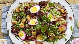 Egg, Beetroot And Bacon Salad