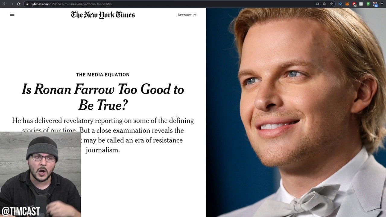 "Me Too Hero Ronan Farrow EXPOSED For Publishing Fake news, ""Resistance Journalism"" Under F"