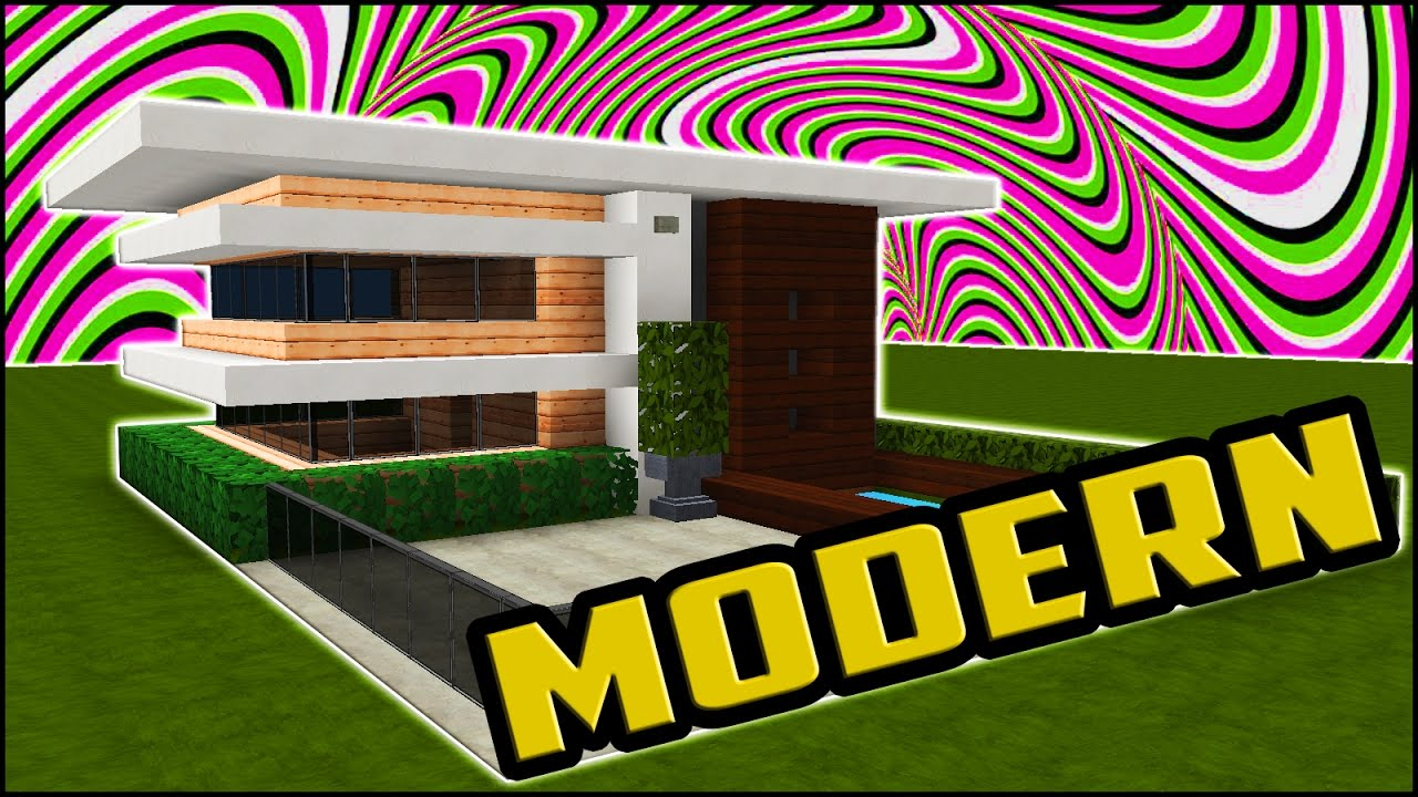 how to build a small easy modern house in minecraft