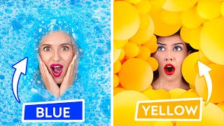 WOW! ULTIMATE HIDE AND SEEK in One Color   Hiding in ONE COLOR for 24 HOURS by 123 GO! CHALLENGE
