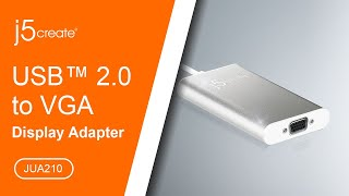 j5create® USB™ 2.0 VGA Display Adapter JUA210