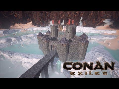 Conan Exiles - Dragon Bridge Castle (Speed Build)