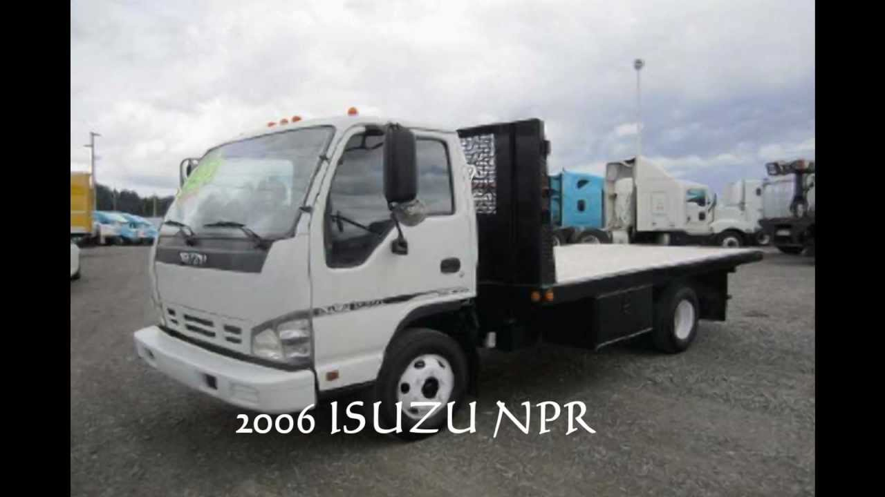 ISUZU FLAT BED TRUCK FOR SALE. 2006 Isuzu npr - YouTube