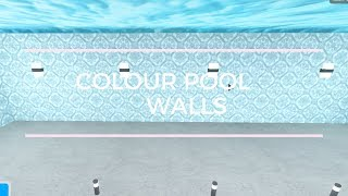 How to colour pool walls - Roblox Bloxburg
