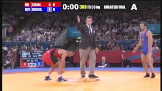 1/4 FINAL Freestyle 60 Kg (IRI) Masoud ESMAEILPOORJOUYBARI (RUS) Besik KUDUKHOV