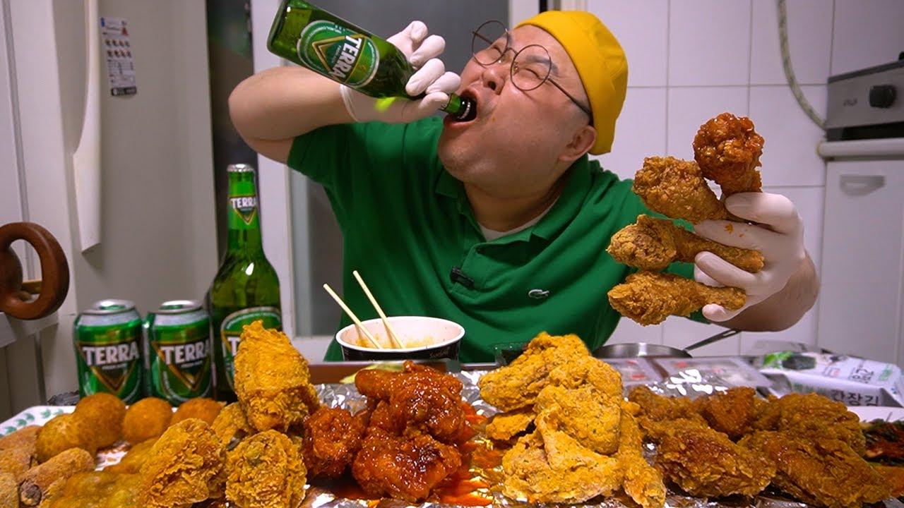 이것이 치맥!│한병 원샷을 부르는 후참잘 치킨먹방 Fried Chicken Mukbang Eatingshow