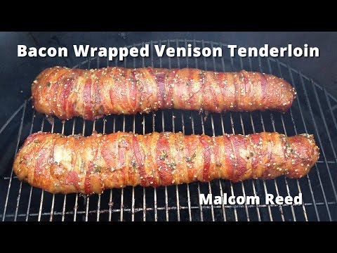 Bacon Wrapped Deer Backstrap   Smoked Venison Tenderloin Malcom Reed HowToBBQRight