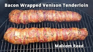 Bacon Wrapped Deer  Backstrap | Smoked Venison Tenderloin Malcom Reed Howtobbqright