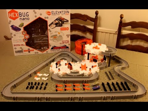 HEXBUG Nano Elevation Habitat Set with Construct Habitat System - Detailed hands on review