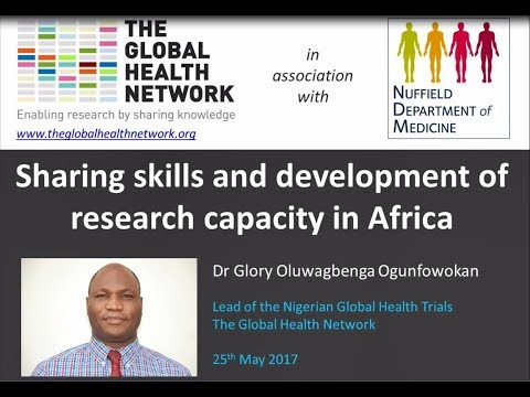 Sharing skills and development of research capacity in Africa