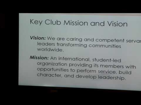 what high school students of Kiwanis Key Club do in their volunteer work in their community