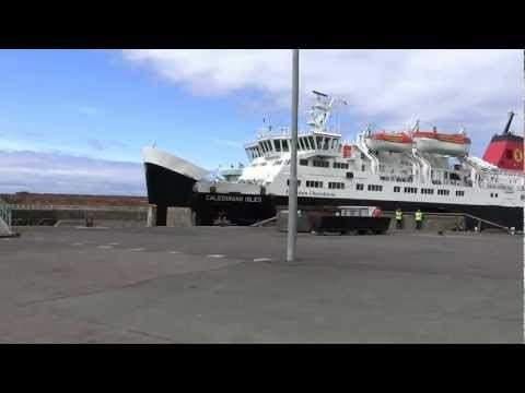 Ferry arriving at Scotland West Coast