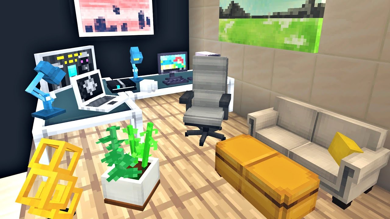 REAL LIFE FURNITURE MOD in Minecraft PE MCPE Modern Furniture