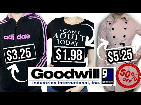 HUGE GOODWILL TRY ON CLOTHING HAUL ( 50% off sale)- ADIDAS, NIKE, KENNETH COLE, & MORE!