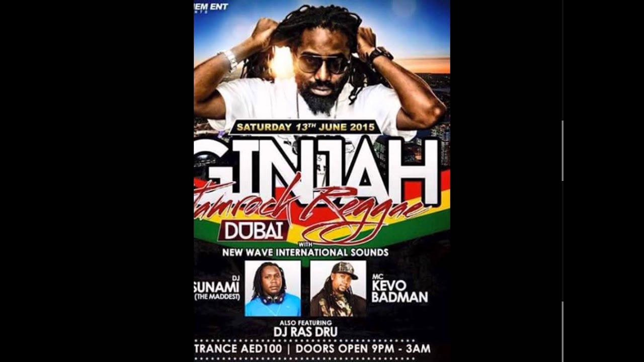 Ginjah Live in Dubai Concert 13Jun2015 feat Dj/Vj RasDru Dj Tsunami Mc  KevoBadMan