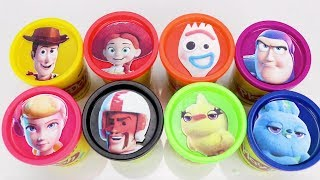 Nat and Essie Teach Colors with Toy Story 4 Play Doh Surprises