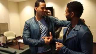 Romeo, Usher & Rico Love Backstage MSG