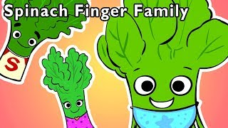 Spinach Finger Family and More | FOOD BABY FINGER SONGS | Nursery Rhymes from Mother Goose Club!