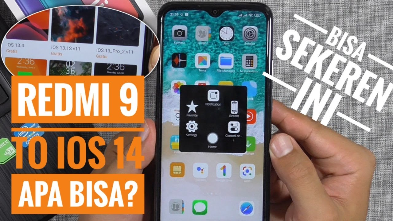 Cara Mengubah Tema Hp Xiaomi Redmi 9 Menjadi Iphone Full Tanpa Root Miui 11 Youtube