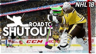 NHL 18 ROAD TO SHUTOUT #10 *THIS GAME IS BROKEN*