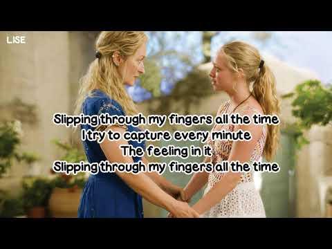 "Meryl Streep - Slipping Through My Fingers (From ""Mamma Mia!"") [Lyrics Video]"